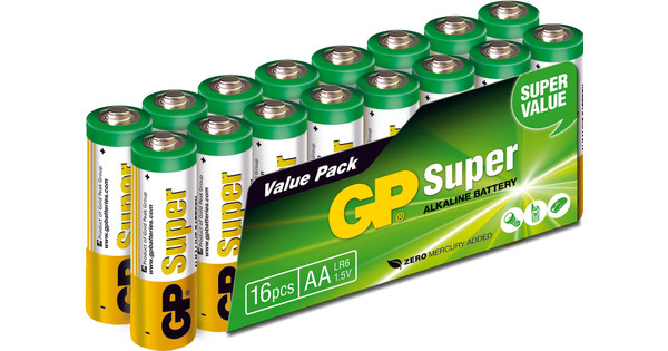 GP Super Alkaline Valuepack 16x AA