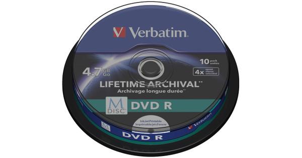 photo regarding Verbatim Printable Dvd R identify VERBATIM M-DISC DVD + R 4x 4.7GB IJ PRINTABLE 10 PACK SP