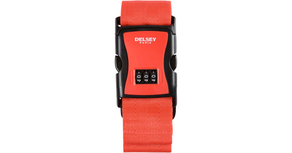 Delsey Travel Necessities Luggage Strap Red