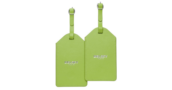 Delsey Travel Necessities Hangtag (x2) Lime