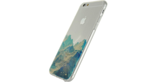 Xccess TPU Coque pour Apple iPhone 6/6S Clear Blue Mountain