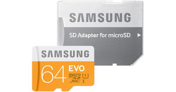 Samsung microSDXC Evo 64 GB Class 10 + SD Adapter