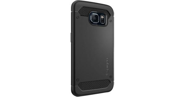 brand new e2d45 d38dd Spigen Rugged Armor (PET) Samsung Galaxy S6 Edge Zwart