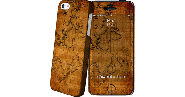 I-Paint Cover Apple iPhone 5/5S/SE Map