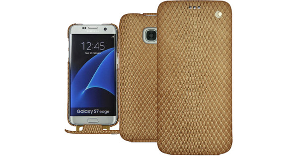 Noreve Tradition Snake Leather Case Samsung Galaxy S7 Edge Beige