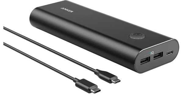 Anker PowerCore Plus USB C 20100 mAh Zwart
