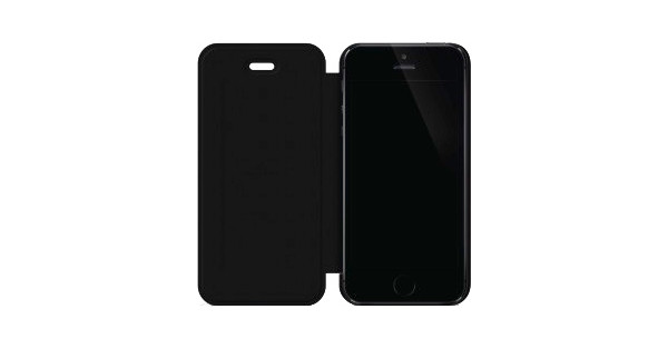 Black Rock Flex Carbon Booklet Apple iPhone 5/5S/SE Zwart