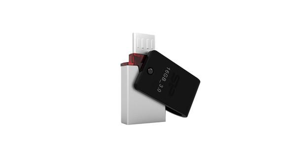 Silicon Power Mobile X31 Usb 3.0 OTG 16 GB Zwart