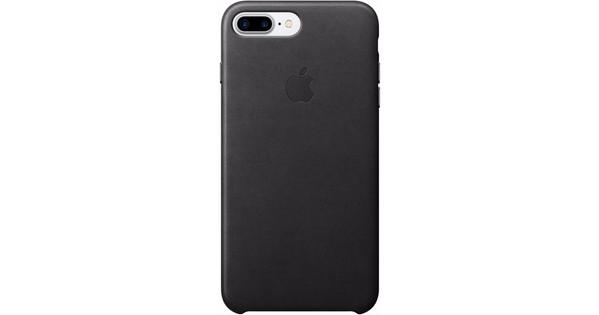 Apple iPhone 7 Plus Leather Case Zwart