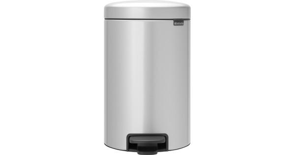 Brabantia NewIcon Pedaalemmer 12 Liter Metallic Grijs