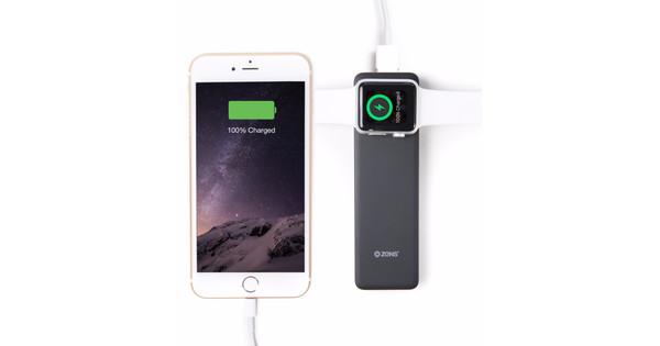Zens Apple Watch/iPhone Powerbank Zwart