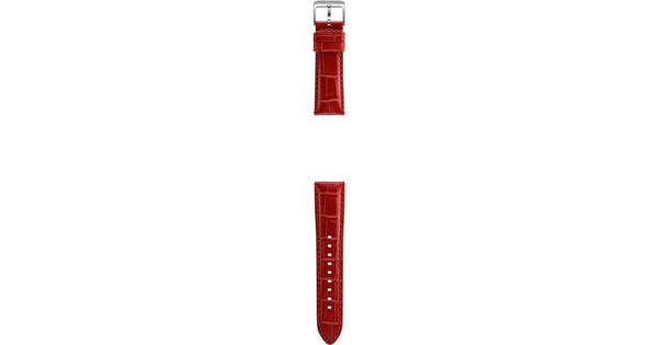 Samsung Gear S3 Leather Alligator Band Orange Red