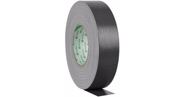 Nichiban Gaffa Tape Zwart 50 m Lang, 50 mm Breed