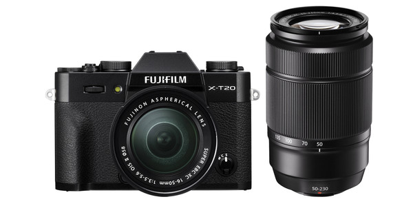 Fujifilm X-T20 Noir + 16-50 mm + 50-230 mm IOS II