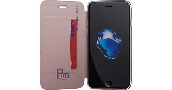 BeHello Book Case Apple iPhone 7/8 Rose Gold