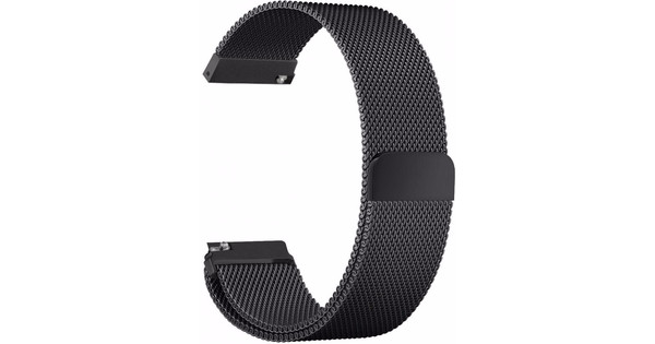 Just in Case Milanees Polsband Universeel 18mm Zwart
