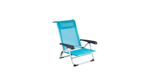 Red Mountain Deluxe Strandstoel Aluminium Blauw