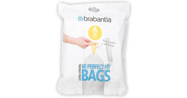 Brabantia Dispenser Pack Sac poubelle A - 3 litres (60 pièces)