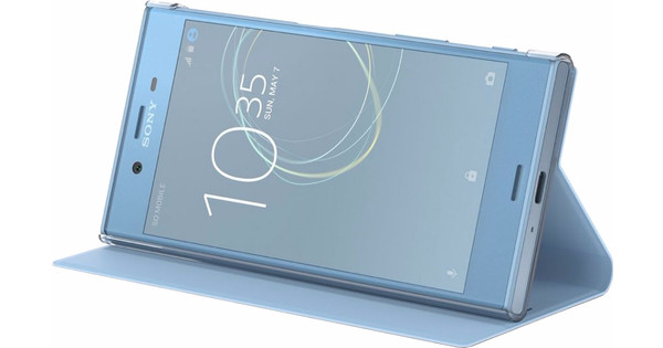Sony Xperia XZs Style Book Case Blue