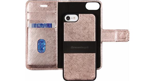 coque rabat iphone 8 or rose