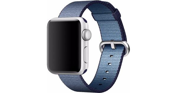 Apple Watch 38mm Nylon Woven Polsband Blauw