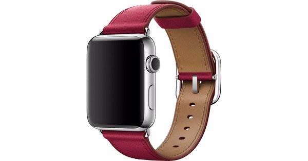 Apple Watch 42mm Klassiek Leren Polsband Roze