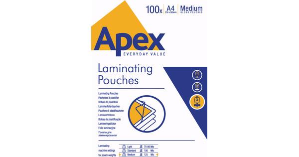 Apex Lamineerhoezen 125 micron A4 (100 stuks)
