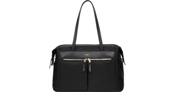 "Knomo Curzon Shoulder Tote 15"" Black"