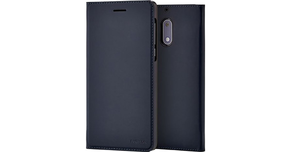 the best attitude fd49f 9043b Nokia 5 Slim Flip Book Case Blue