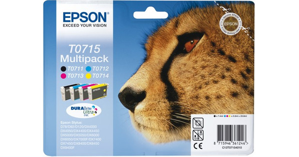Epson T0715 4 Color Multipack (4 kleuren) C13T07154010