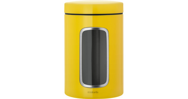 Brabantia Voorraadbus 1,4 liter Daisy Yellow
