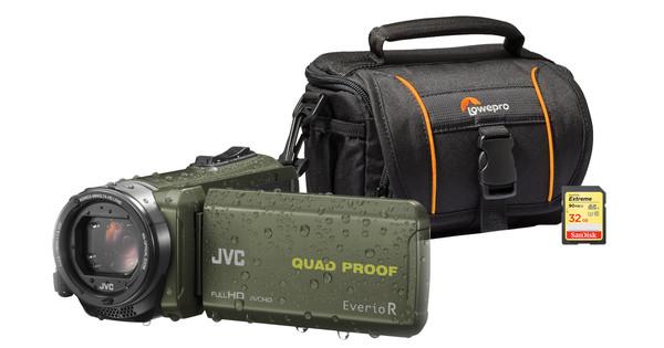 Starterskit - JVC GZ-R435GEU + Geheugen + Tas