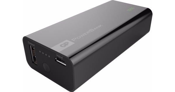 GP Portable PowerBank 5.200 mAh Zwart