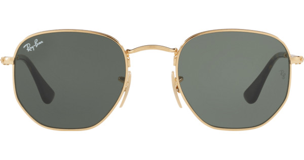 Ray Ban Bril Ronde Glazen.Ray Ban Hexagonal Rb3548n Gold Green