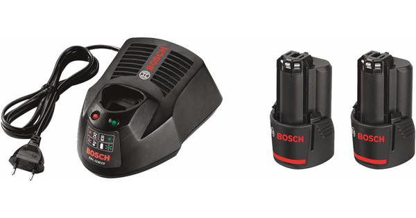 Bosch Acculader + Accu  12V 3,0 Ah Li-Ion (2x)