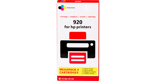 Own Brand 920 4 Color XL For HP Printers C2N92AE