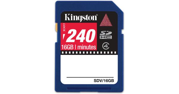 Kingston SDHC 16 GB Video Card + Geheugenkaartlezer