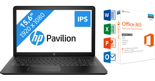 HP PAVILION POWER 15-CB091ND + Office 365 1 jaar