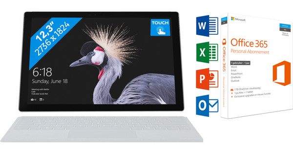 MICROSOFT SURFACE PRO - I5 - 8 GB + Office 365 1 jaar