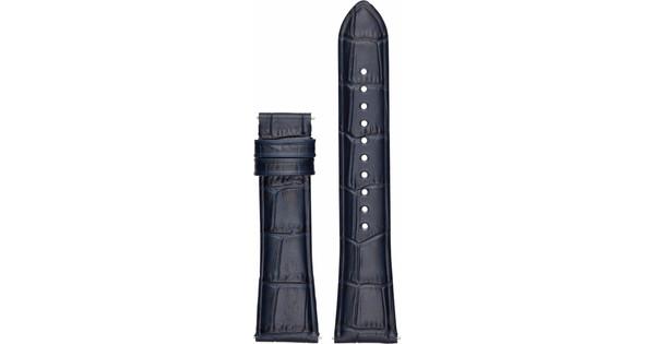 Emporio Armani 22mm Leren Horlogeband Blauw