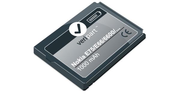 Veripart Battery for Nokia E75/E66/6600 etc. + Thuislader