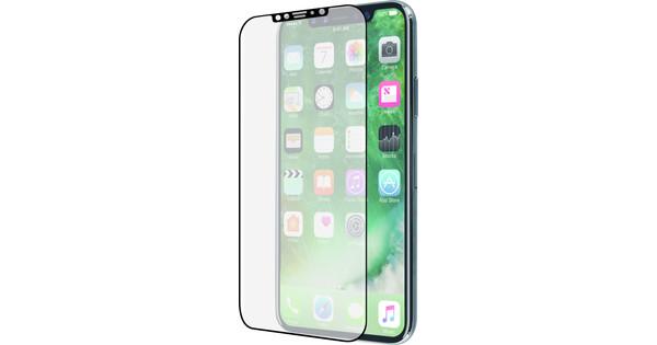 Azuri Protège-écran Incurvé Verre trempé Apple iPhone X Noir