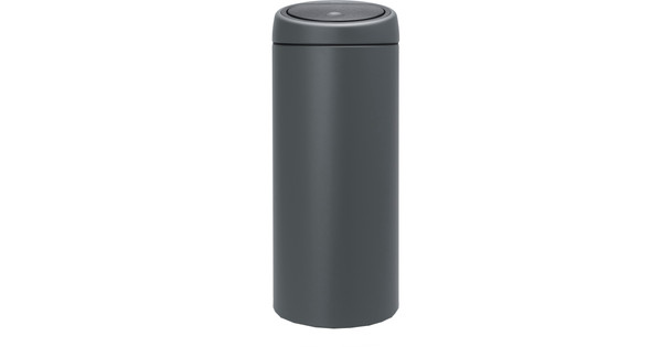 Touch Bin 30 Liter.Brabantia Touch Bin 30 Liter Verkeersgrijs
