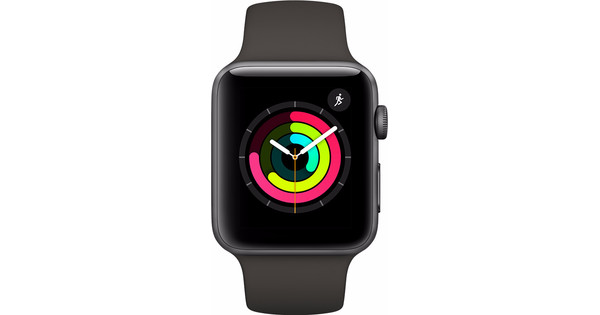 separation shoes 3cd5e 64c3c Apple Watch Series 3 42mm Space Gray Aluminum/Gray Sport Band