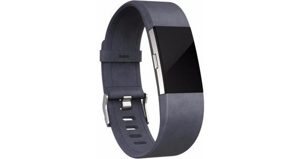 Fitbit Charge 2 Leren Horlogeband Grijs Small