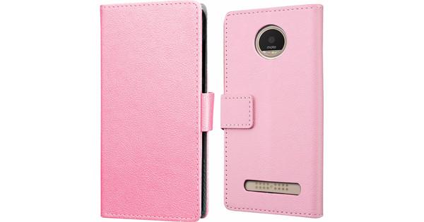 Just in Case Wallet Motorola Moto Z2 Play Book Case Roze