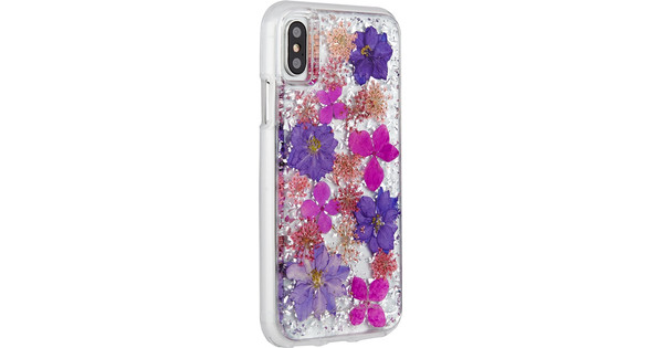 Case-Mate Karat Petals Apple iPhone X Back Cover Paars