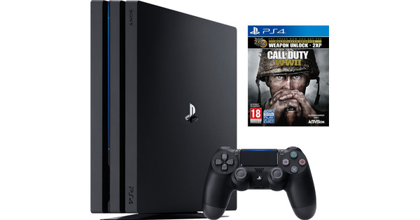 Sony Playstation 4 Pro 1 To Cod Wwii Offre Groupée Coolblue Avant 23 59 Demain Chez Vous