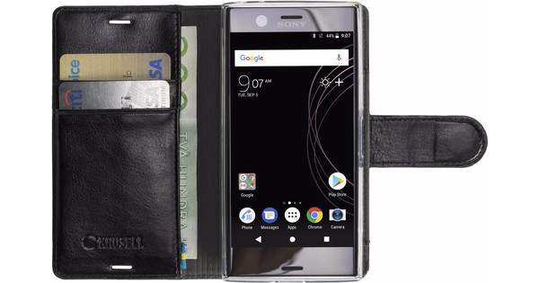 new style 01997 61231 Krusell Ekero 2 in 1 Sony Xperia XZ1 Compact Book Case Black
