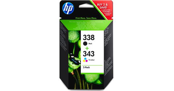 HP 338/343 Cartouche Noir + Pack combiné 3 Couleurs (SD449EE)